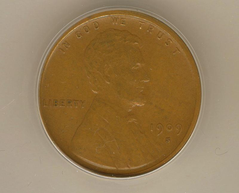 Rare Brown 1909 - S VDB Lincoln Wheat Cent  ANACS Certified Authentic (EF45) Key