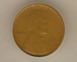 Rare Brown 1909 - S VDB Lincoln Wheat Cent  ANACS Certified Authentic (EF45) Key image 1