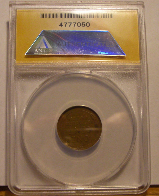 Rare Brown 1909 - S VDB Lincoln Wheat Cent  ANACS Certified Authentic (EF45) Key image 4