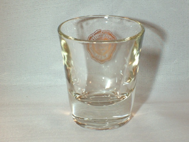 CORNELL UNIVERSITY SHOT GLASS - WOW, NICE COLLECTOR'S ITEM!