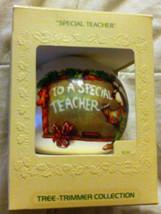"""1979 HALLMARK SATIN  ORNAMENT  """"SPECIAL TEACHER"""" - $6.30"""