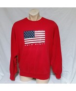 VTG Ralph Lauren Polo Sport Sweatshirt 90s Flag USA Spell Out RLX 93 Sta... - $47.99