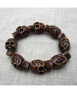 Exquisite Sleek brown large skull bracelet  - $7.99
