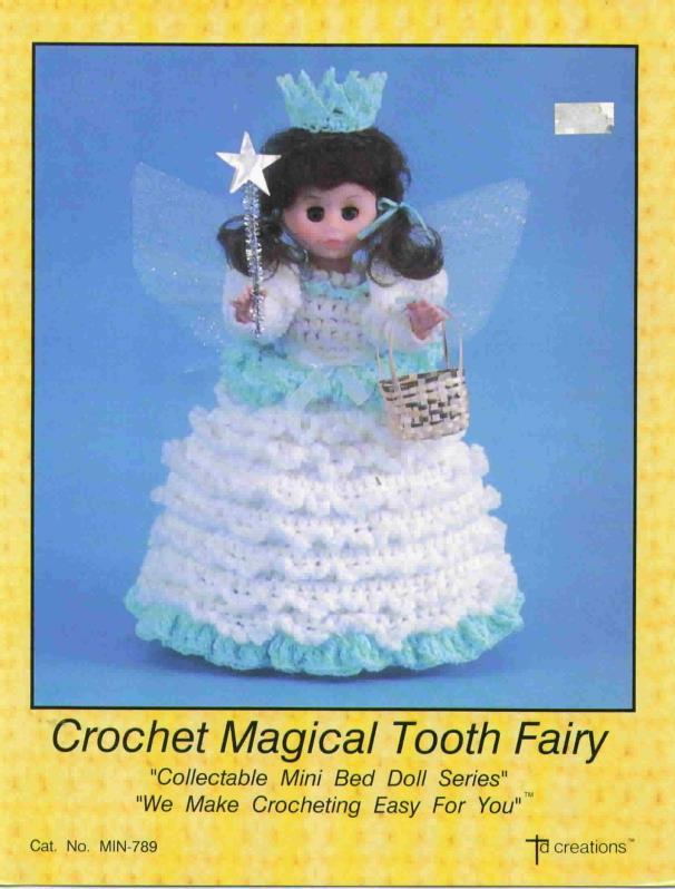TD Creations Crochet Magical Tooth Fairy, Collectable Mini Bed Doll Series