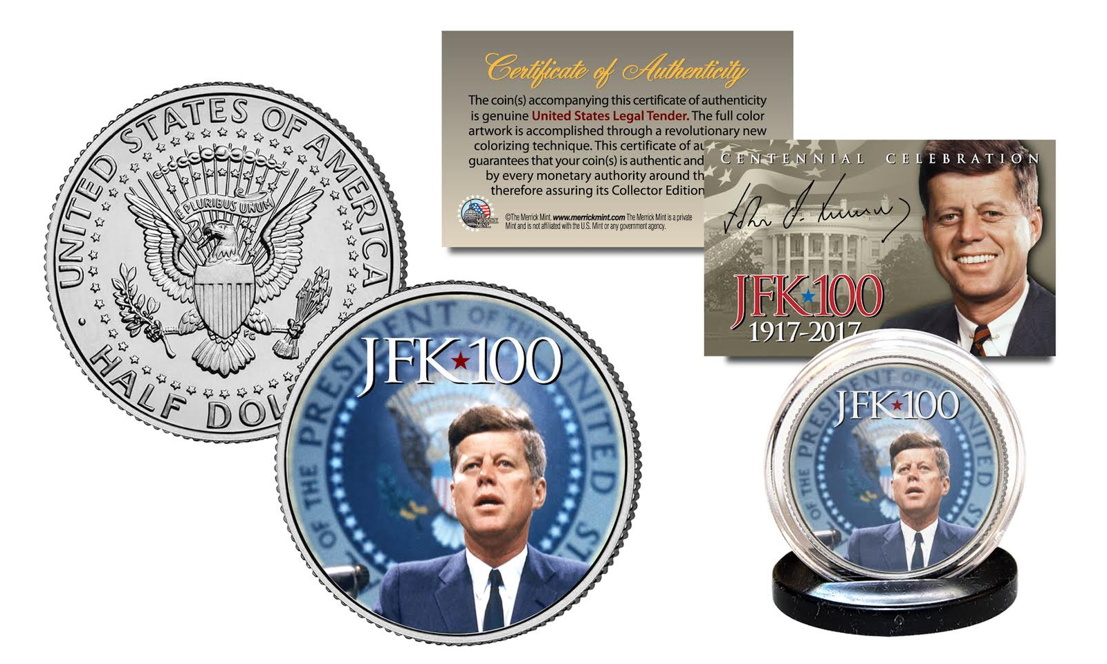 President KENNEDY JFK 100 Birthday 2017 JFK Half Dollar Coin Presidential Seal - $8.86