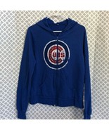 Cubs bling blue hooded zip up jacket - $27.72