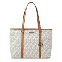 Michael Kors Large Sady Carryall Shoulder bag (Vanilla Pvc) - $184.65