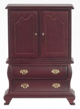 Dollhouse Miniature 1:12 Scale Mahogany Armoire #CL10467 - $16.99