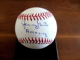 JERRY GROTE AMAZING 1969 WSC MET'S CATCHER SIGNED AUTO OML BASEBALL STEI... - $89.09