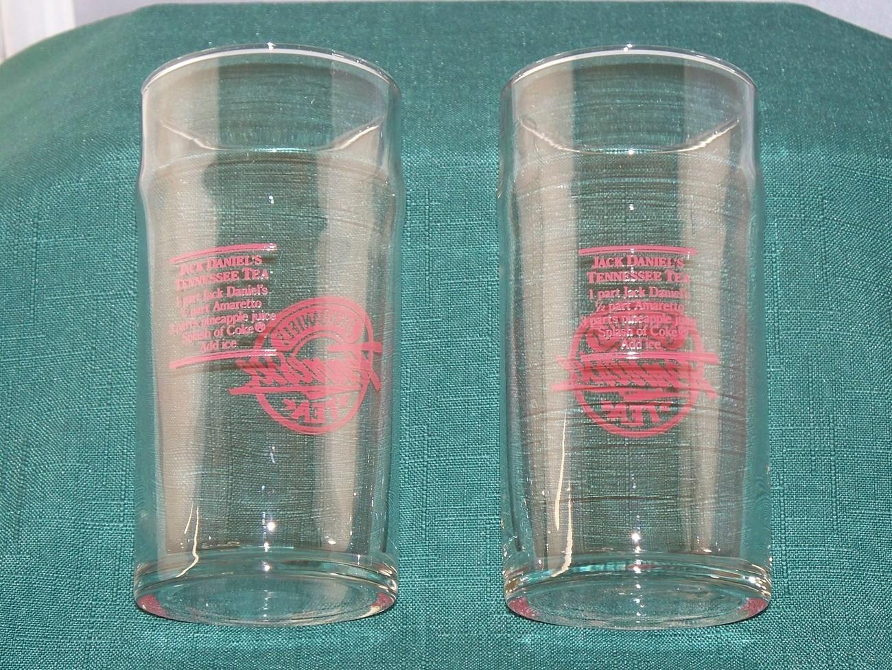 Tennessee Tea 12 Oz Jack Daniels Glass Set Of Two VGC