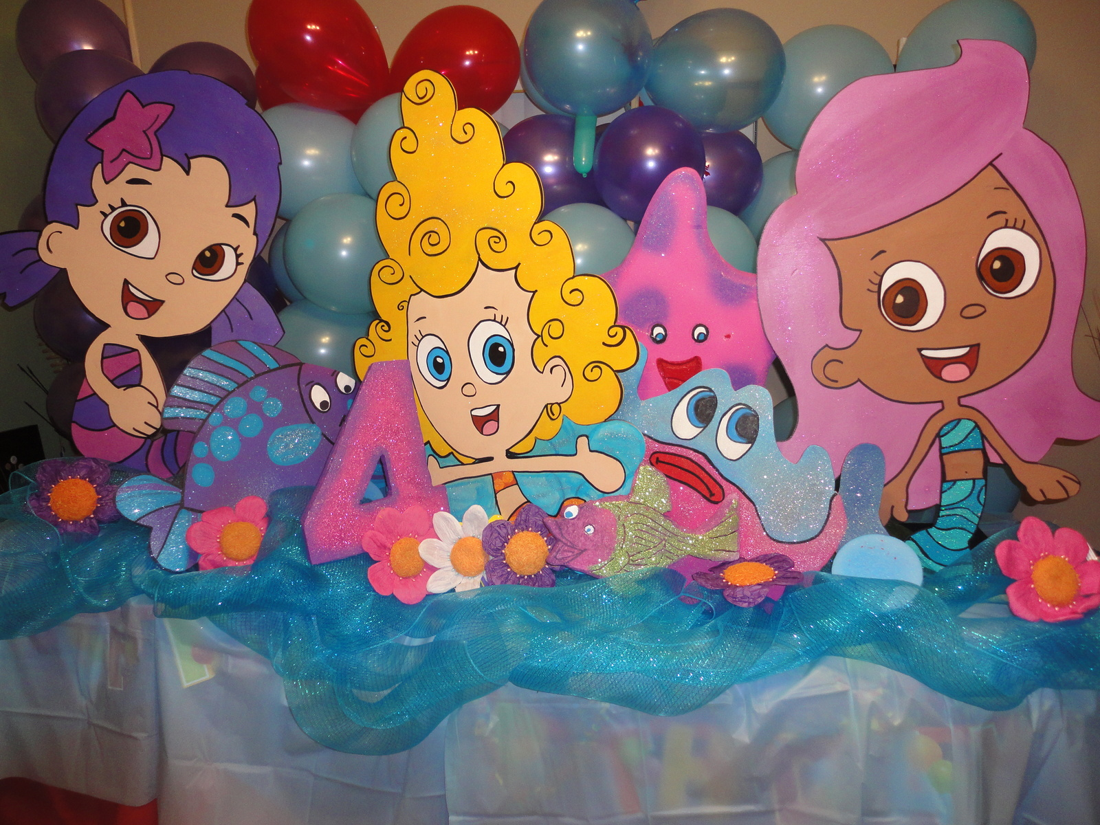 3 feet Bubble Guppies Birthday Party  Photo Props Standees