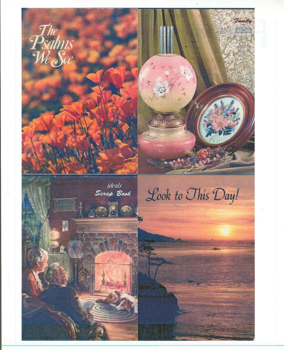IDEALS-(3)SCRAPBOOK;LOOK TO THIS DAY;FAMILY IDEALS-POEMS,PRAYERS