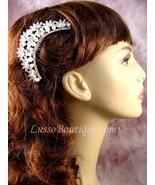 "Austrian Crystal Hair Comb ""Helga"" Bridal Clear free organza bag - $14.75"