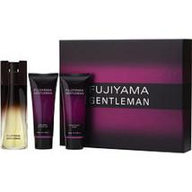Fujiyama Gentleman Edt Spray 3.3 Oz and Aftershave Balm 3.3 Oz and Showe... - $25.66