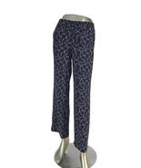 Talbots Petites Women's Nautical Knot Print Black Cream Slip On Pants Si... - $32.62