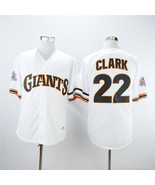 San francisco giants men s  22 will clark jersey white 1989 retro baseball stitched thumbtall