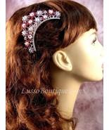 """Austrian Crystal Hair Comb """"Magda"""" Pink free organza bag - $14.75"""