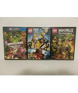 LEGO ANIMATED 3 DVDS: NINJAGO, NEXO NIGHTS & JUSTICE LEAGUE - FREE SHIPPING - $18.70