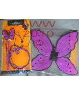 Child's Dark Pink Fairy Wings, Wand, Necklace, & Tiara - $9.99