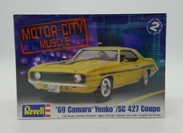 Revell Motor City Muscle '69 Camaro Yenko /SC 427 Coupe 1:25 Scale Model... - $29.58
