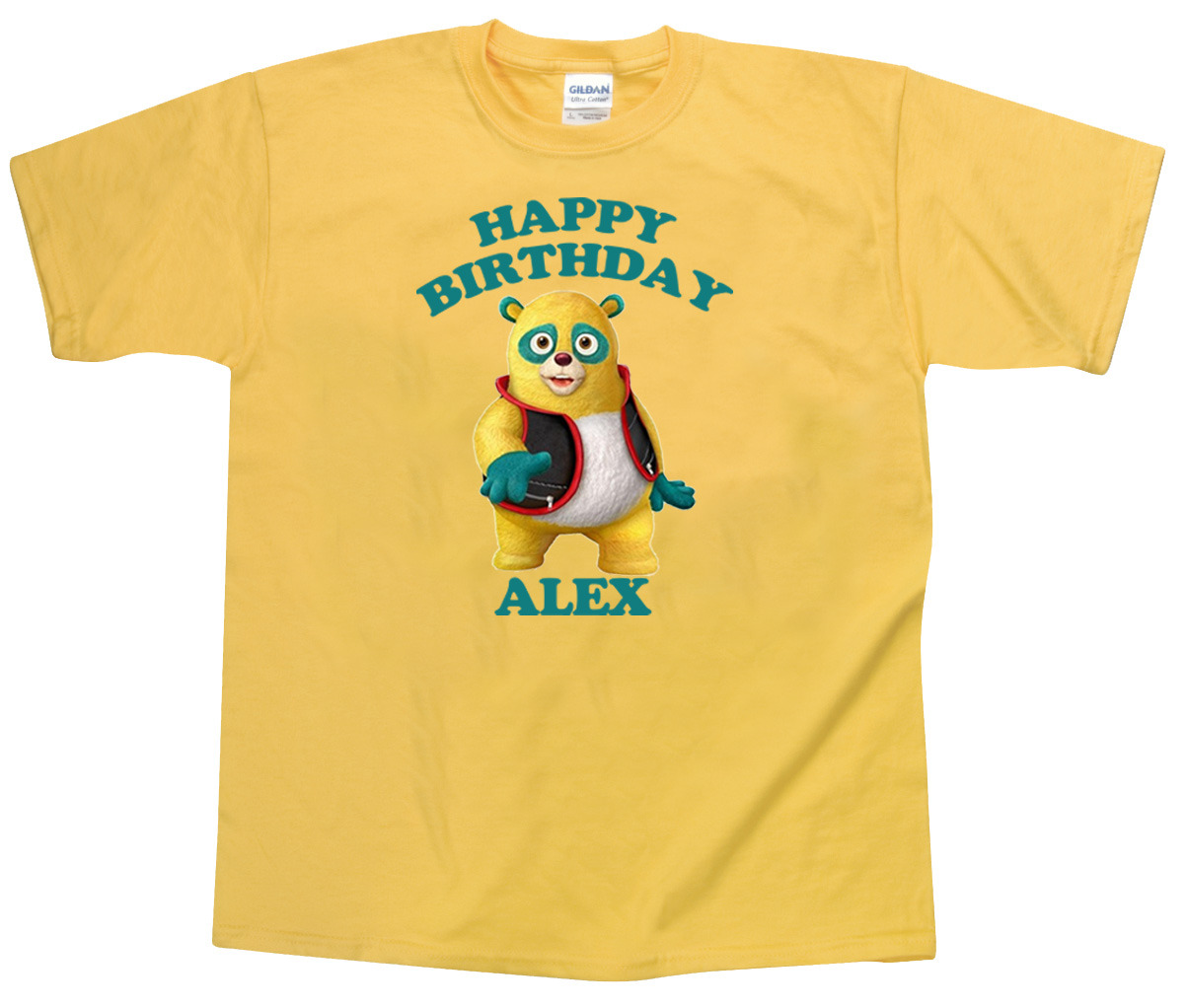 Primary image for Personalized Custom Special Agent Oso Yellow Birthday T-Shirt Gift Add Name #2