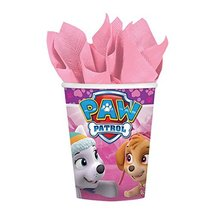 Girl Pups Paw Patrol 8 Pack 9 oz. Paper Cups Birthday Party Supplies Sky... - $3.71