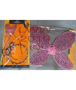 Child's Leopard Pink Fairy Wings, Wand, Necklace, & Tiara - $9.99