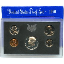 1970-S Proof Set United States US Mint Original Government Packaging Box image 1
