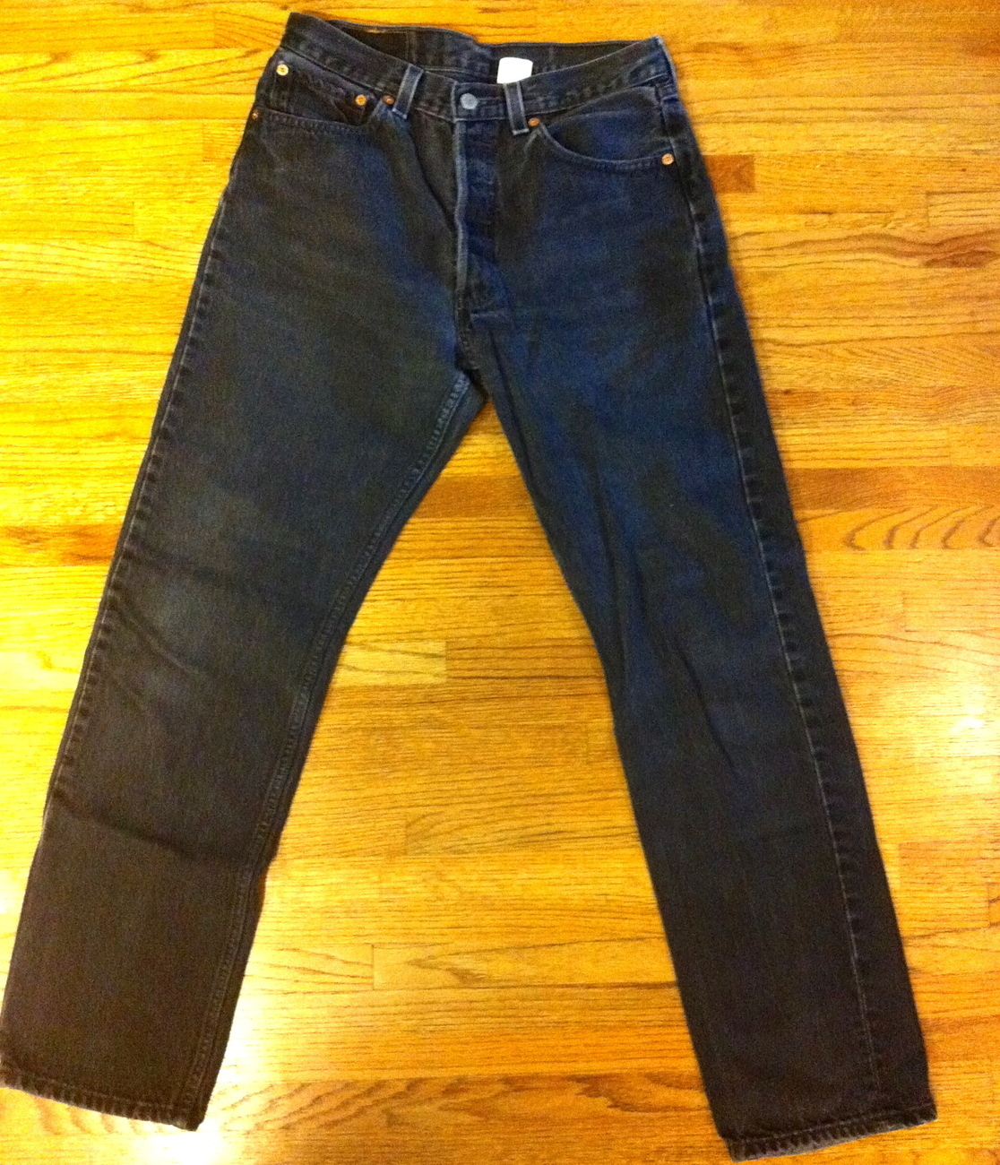 Primary image for Mens Gently Used Faded Black 501 Levis SZ 30 x 31