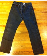 Mens Gently Used Faded Black 501 Levis SZ 30 x 31 - $25.00