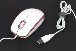iRiver IR-M1000 USB Wired Mouse 1000DPI 4-way wheel (White Rose Gold) image 4