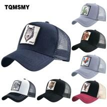 TQMSMY Summer Unisex Hip Hop Embroidered Animal Men Baseball Caps Women ... - $8.27+