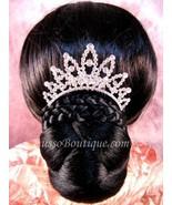 "Austrian Crystal Hair Comb ""Uma"" Bridal Clear free organza bag - $14.75"