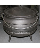Cast iron Cauldron Reenactments Wilderness Survival Sz 14 Potjie pot  - $360.00