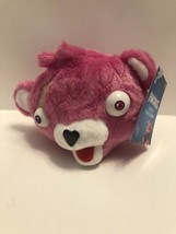 Fortnite Cuddle Team Leader Plush Pink Bear Head Epic Games Russ NEW A24 - $8.95