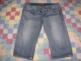 Women's Silver jeans size 28 Tuesday Bermuda low rise denim blue thick s... - $28.49