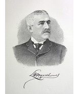 LORENZO WOODHOUSE Capitalist Chicago Marshall Field & Co - 1895 Portrait... - $9.44