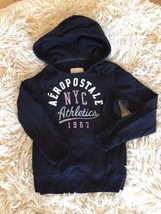 Hoodie Graphic Sweatshirt Aeropostale Navy Blue Fits S Womens Pullover - $12.99