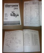 Craftsman Model No. 917.255470 3One Convertible Lawn Tractor Owners Manual - $12.00