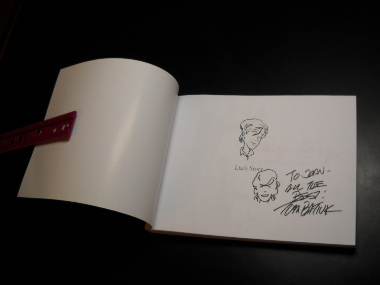 Lisa's Story The Other Shoe Tom Batiuk 2007 Signed with Lisa Remark by Author
