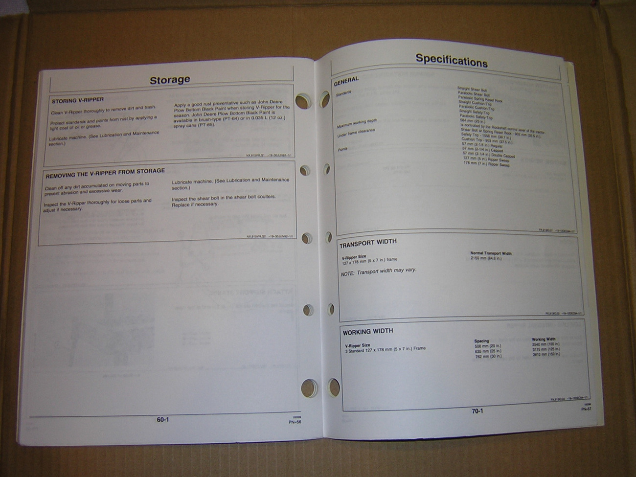 John Deere 913 V-Ripper Operator's Manual