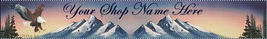 Web Banner Eagle snow Mountains Custom Designed  102a - $7.00