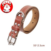 Soft Touch Collars - Luxury Real Leather Padded Dog Collar, Leather Dog  - $19.05