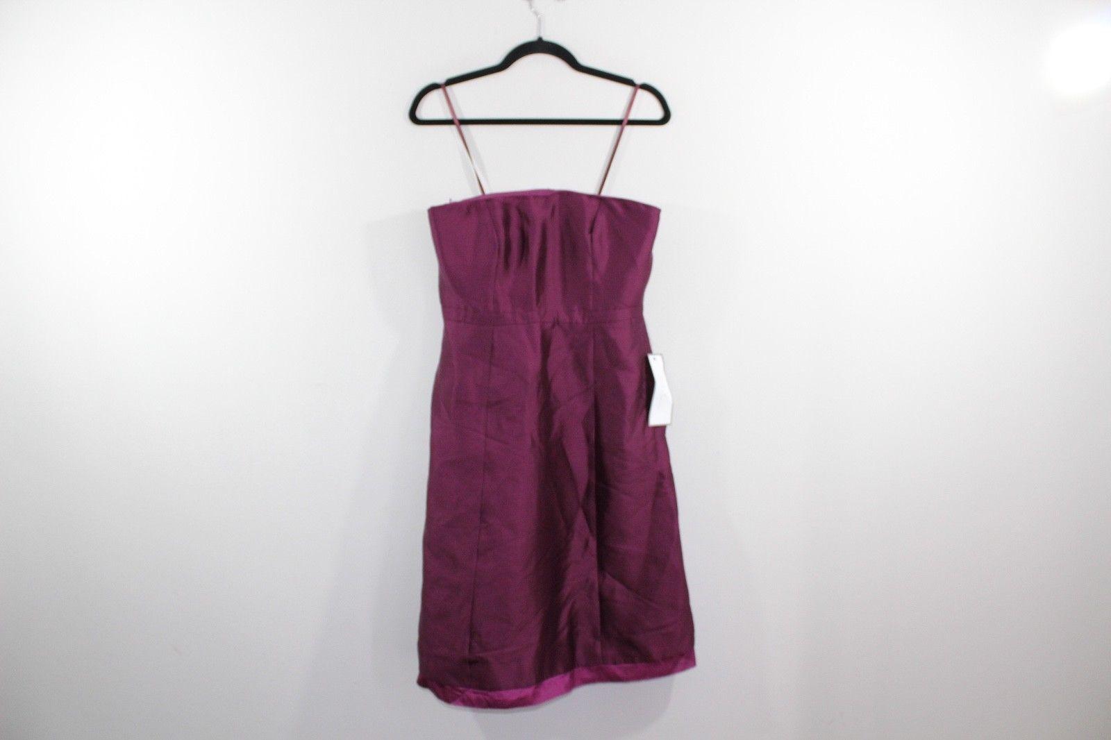 New J CREW Womens Size 6 Strapless Silk Cotton Jenny Formal Dress Purple