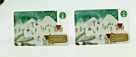 Starbucks Coffee 2015 Gift Card Ski Resort Skiing Snow Zero Balance Set ... - $11.27