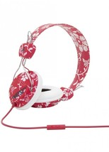 WESC Conga Headphones Hawaiwe Jester Red Flowers w Mic