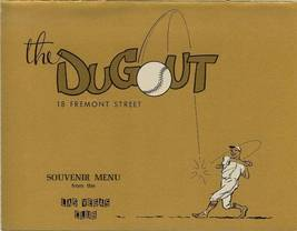 1960s the dugout menu las vegas club souvenir dodger sandy koufax don dr... - $99.99