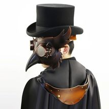 Reenactment Plague Doctor Steampunk Bird Leather Mask Halloween Gothic Cosplay image 11