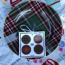 (4) 222 Fifth Wexford Tartan Plaid Appetizer Plates ~NEW ~ - $19.99