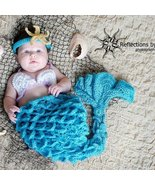Hand crocheted mermaid costume/photography prop for baby/infant/newborn - $55.00